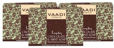 Vaadi Herbals Value Pack of 3 Tempting Chocolate & Mint Soap