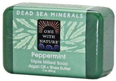 One With Nature Peppermint Dead Sea Mineral Soap Bar