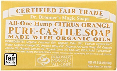 Dr. Bronner's Magic Soaps: Pure Castile Bar Soap Organic Citrus (2 pack)
