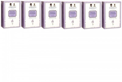 Yardley London English Lavender Luxury Soap - Pack of 6(600 g)