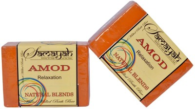 Samayah Hand Made Bath Soap Amod (Fushion) Set of 2