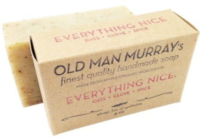 Old Man Murray's Everything Nice All-Natural Soap (2 Bars) - Spice - Handmade w/ Simple Organic Ingredients - No Parabens Alcohol Petroleum Artificial Dyes or Fragrances