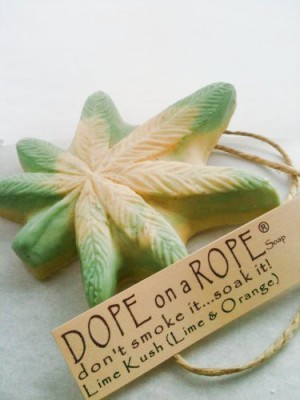 Rage Paints Dope on a Rope Soap - Lime Kush   Lime & Orange