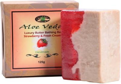 Aloe Veda Luxury Butter Bathing Bar - Strawberry & Fresh Cream