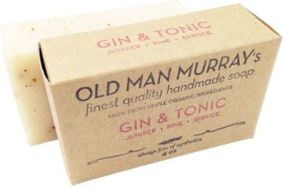 Old Man Murray's Gin & Tonic All-Natural Soap (2 Bars) - Juniper Pine Spruce - Handmade w/ Simple Organic Ingredients - No Parabens Alcohol Petroleum Artificial Dyes or Fragrances