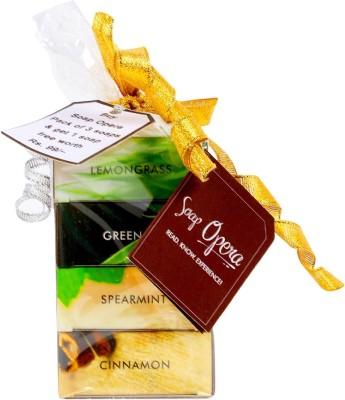 Soap Opera Lemongrass, Green Tea, Spearmint, Cinnamon Soaps- 3+1 combo pack