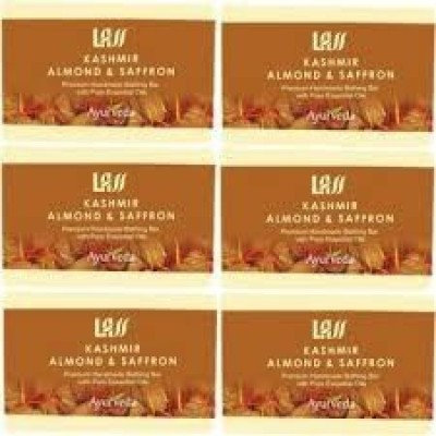 Lass Naturals Pack of 12 Lass Naturals ALMOND & SAFFRON SOAP
