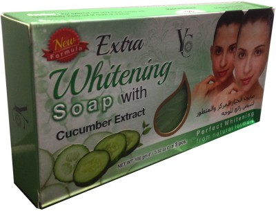 YC Extra Whitening Soap With Cucumber Extract Pack Of 3