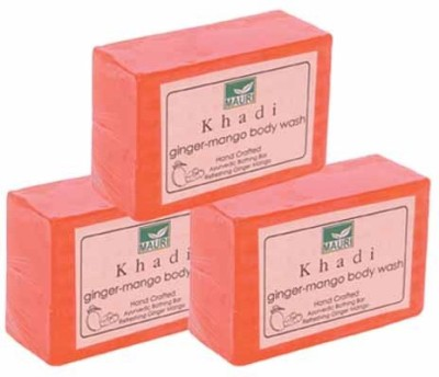 Khadimauri Ginger Mango Soap - Pack of 3 - Premium Handcafted Herbal