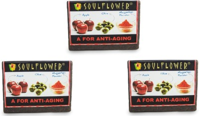 Soulflower Soulflower A For Anti Aging Soap set of 3