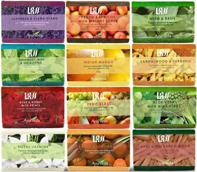 Lass Naturals Luxurious Soaps Pack (Pack of 12)