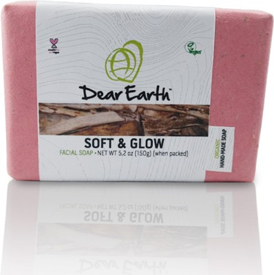 Dear Earth Soft & Glow Facial Organic & Vegan Soap