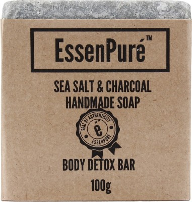 EssenPure Sea Salt & Charcoal Handmade Soap