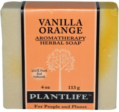 Plantlife Vanilla Orange 100% Pure & Natural Aromatherapy Herbal Soap