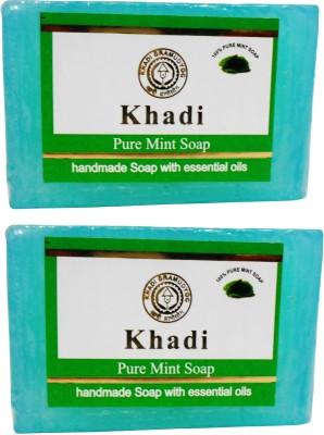 Khadi Herbal NaturalPure Mint Soap Pack Of 2