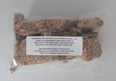 SAAQIN 100% Raw African Black Soap