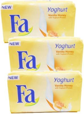 Fa Yoghurt Vanilla Honey Soap Bars ( Pack of 3)