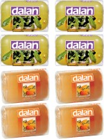 Dalan Glycerine Soap 8 Pack Combo of Daphne & Almond Oil, from Turkey(800 g, Pack of 8)
