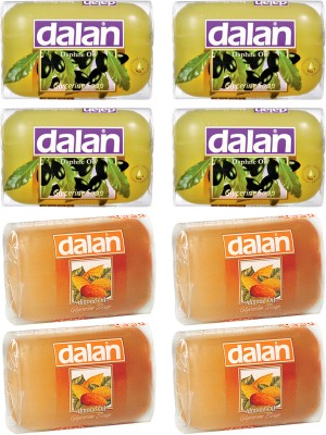 Dalan Glycerine Soap 8 Pack Combo of Daphne & Almond Oil, from Turkey
