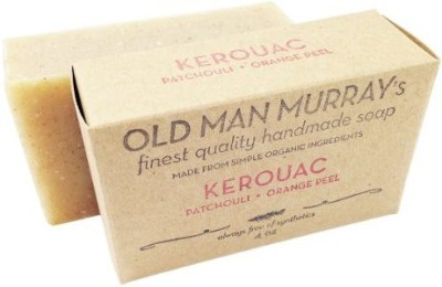 Old Man Murray's Kerouac All-Natural Soap (2 Bars) - - Handmade w/ Simple Organic Ingredients - No Parabens Alcohol Petroleum Artificial Dyes or Fragrances