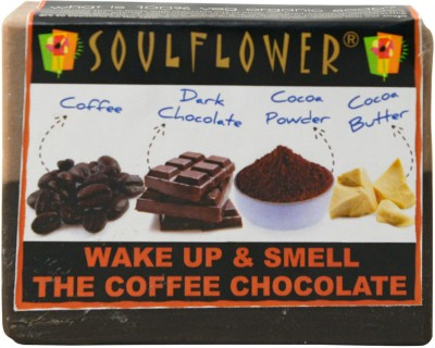 Soulflower Wake Up and Smell the Coffee Chocolate Soap