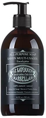 LSM Soaps Le Savonnier Marseillais All-Purpose Liquid Counter Top Soap Eucalyptus