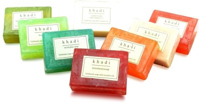 Khadi Natural Assorted Natural Handmade Soaps - Family Collection (Pack Of 8)