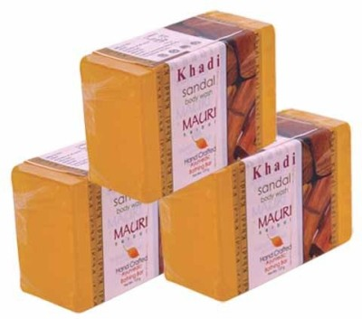 Khadimauri Sandal Soap - Pack of 3 - Premium Handcafted Herbal