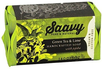 Saavy Naturals - Jojoba Handcrafted Soap - (Green Tea and Lime)