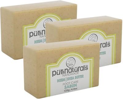 Purenaturals Foot Care Soap Neem | Shea Butter - 125g (Set of 3)