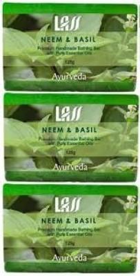 Lass Naturals Pack of 3 Lass Naturals LASS NEEM & BASIL SOAPS