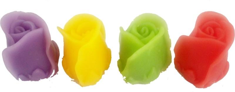 Nakoda Feelings Handmade 3D Rose Facial Soap 2X2(240 g, Pack of 4)