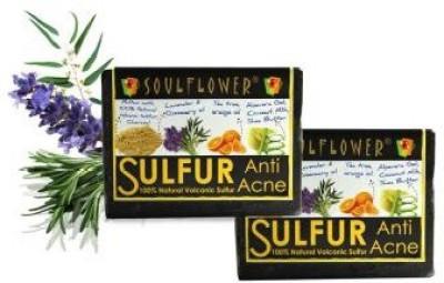 Soulflower Anti Acne Sulfur Soap Set of 2