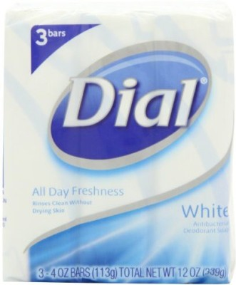 Dial White Antibacterial Soap Bar Bars 3-Count (Pack of 3)