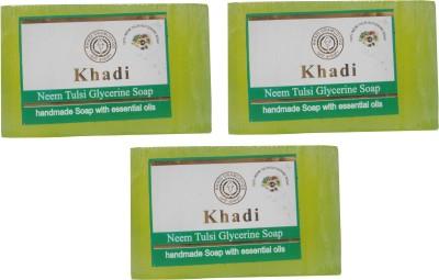 Khadi Herbal NaturalNeem Tulsi Glycerine Soap Pack Of 3