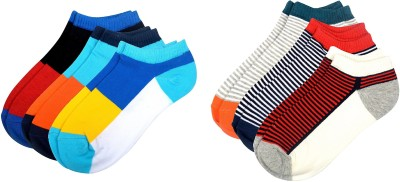Color Fevrr Mens Ankle Length Socks(Pack of 6)
