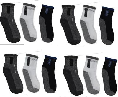 Ishaya Stores Men's Solid Ankle Length Socks