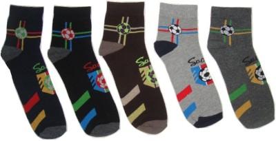 Well Wear Men,s Printed Ankle Length Socks