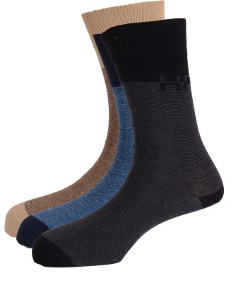 Hush Puppies Men's Solid Crew Length Socks