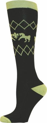Equine Couture Women's Self Design Knee Length Socks
