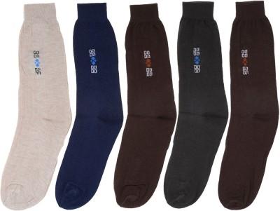 ZACHARIAS Men's Graphic Print Crew Length Socks