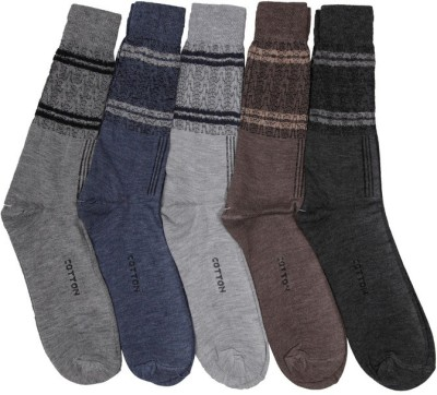 Mikado Men's Embellished Crew Length Socks