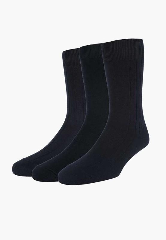 Peter England Men's Solid Mid-calf Length Socks