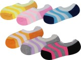 Peridot Credo Girls Striped Footie Socks