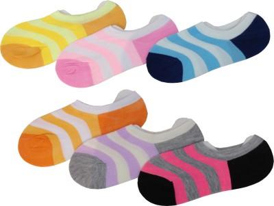 Peridot Credo Girl,s Striped Footie Socks