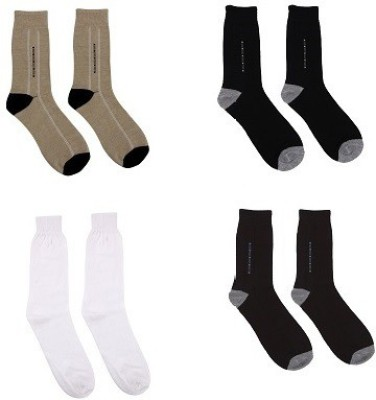 Nirosha Men's Solid Knee Length Socks
