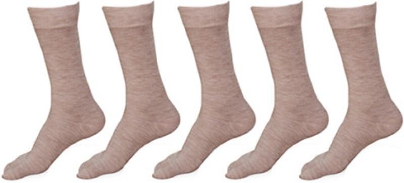 Khi Women's Solid Crew Length Socks(Pack of 5)