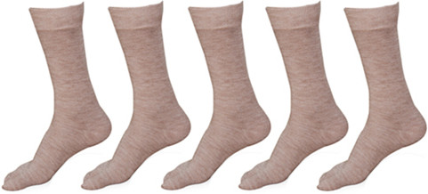 Khi Womens Solid Crew Length Socks(Pack of 5)
