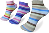 Rege Women's Striped Ankle Length Socks ...