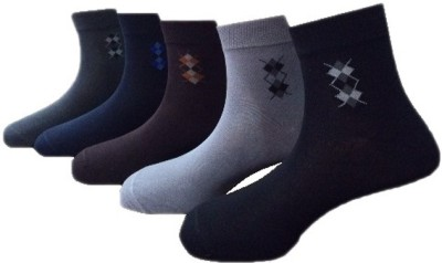 Lacarte Men's Solid Ankle Length Socks